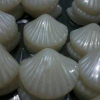 Conchas são um dos sabonetes que tem uma demanda maior. É encomendado para temas do Fundo do Mar e M