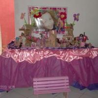 Decoração mesa infantil menina