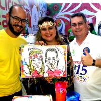 Salvador Caricaturas ao vivo em papel.