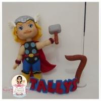 Topo de Bolo - Thor