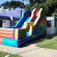 tobogã máster ideal para crianças e adultos largura 3,00 metros 7,00 de comprimento 3,90 inclinação
