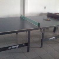 tênis de mesa acompanha 1 rede , 4 raquetes , 3 bolas