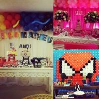 Scamalha Eventos, decoração de festas infantis painéis temáticos, correntes e arcos com balões. 71