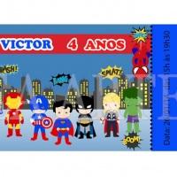 Convite Heróis Mini