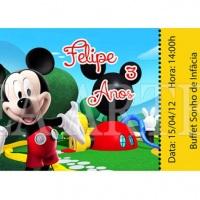 Convite Ingresso  Mickey Digital ou Impresso