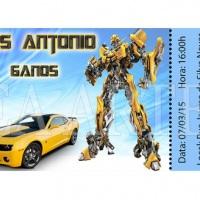 Convite ingresso Transformers Bumblebee
