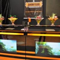bar com 2  tvs  de plasma