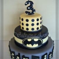 Maquete de bolo, tema Batman