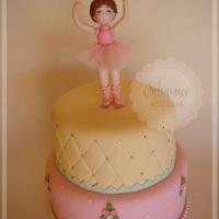 Maquete de bolo no tema Bailarina