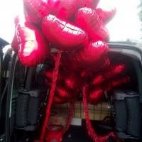 Balões de Corações Metalizados  Apropiados para Casamentos