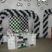 Decoração Futebol (Branco e Preto)