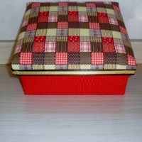 caixa de mdf em tecido
