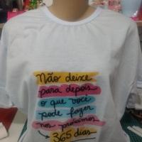 Camisas personalizadas a partir de 25,00 reais