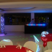 Cabine DJ decorada em Led