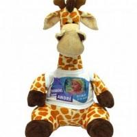Girafa com a roupa personalizável