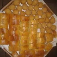 pão italiano e coxinha de frango