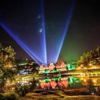 Projeto Iluminação Fachada - SESC Quitandinha Festival de Inverno 2014