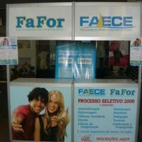 Balcão de atendimento da FAECE/FAFOR pelo período de 03 (três) em 2009 no Shopping Benfica.