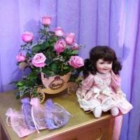 Carruagem em MDF decorada com rosas!