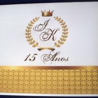 Convite de 15 Anos fechado.