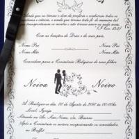 Convite de casamento aberto.