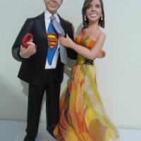 Topo de bolo humanizados para noivado