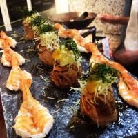 Sashimis de camarão