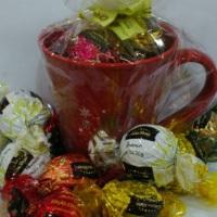 Chocolates na Caneca 1 R$42,50 06 trufas Cacau Show 02 Tablete Cacau Show Caneca embalada  *IMA