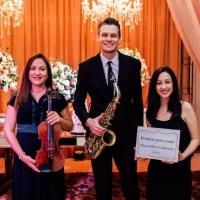 Músicos para cerimônia, recepção e jantar de casamento, violino, saxofone e piano digital