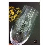 Taça para cerveja em cristal Bohemia com borda temperada, maior resistência!   (57311)