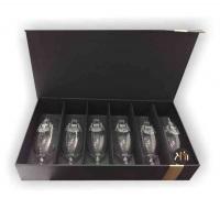 KIT 6 TAÇAS de cristal para cerveja personalizado. Taça em cristal Bohemia com borda temperada, mai