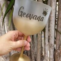 Taça de Gin Degradê Dourada