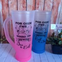 Caneca Slim Degradê rosa e Azul