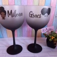 Taças de Gin Degradê Preta