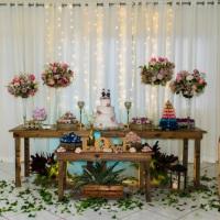 Casamento azul com rosa
