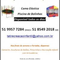 Folder Cama Elástica e Piscina de Bolinhas