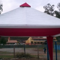 tenda 5x5 decorada/ fiat