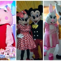 Peppa, Mickey e Minie eCoelhinhos da Pascoa