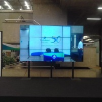 VIDEO WALL. TELAS FULL HD INFINITY BORDA SUPER FINA. MONTAGEM DE VARIOS TAMANHOS, COM ESTRUTURA NO C