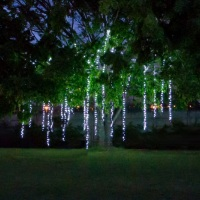 Árvore de 12 metros iluminada com cascata de luz!