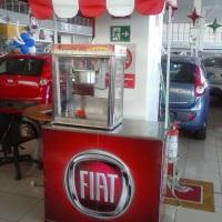 Barraquinha de Pipoca na concessionária Estação Fiat.