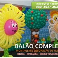 Balão Completo e Malha Tensionada
