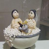 Noivinhos na banheira - Lembrancinha