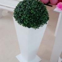Vaso de chão com bucho verde