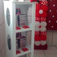 Decoração Minnie Vermelha (estante com 3 prateleiras)