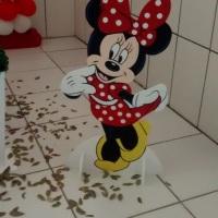 Decoração Minnie Vermelha (totens de chão de 0,90cm)