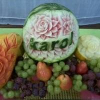 Mesas de frutas personalizadas com seu nome ou da sua empresa