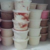 potes de 200 ml sorvete