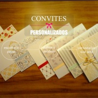 Convites de casamento personalizados e com caligrafia impressa
