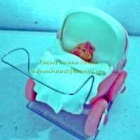 Topo de bolo chá de bebê menina